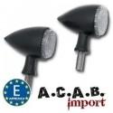 Feu à led noir Arizona clignotant + feu arrière + feu stop A.C.A.B. Import - 1