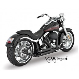 Pots Vance & Hines Shortshots staggered black Softail HD 2012 à 2017