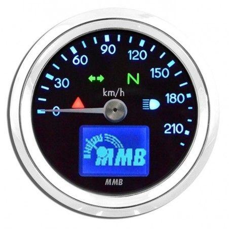 Compteur électronique MMB Basic Chrome/Bleu