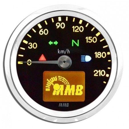 Compteur électronique MMB Basic Chrome/Jaune