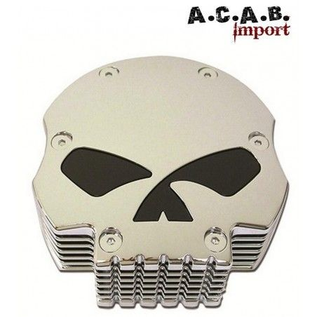 Filtre à air Chromé Zodiac usiné Skull moto bobber chopper Harley