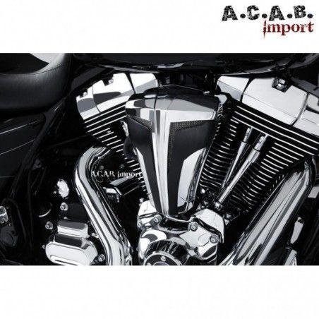 Filtre à air cipher chrome noir haute performance pour Harley Davidson par Ciro
