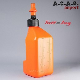 Bidon Tuff Jug 10 L orange avec bouchon remplissage rapide moto trike quad