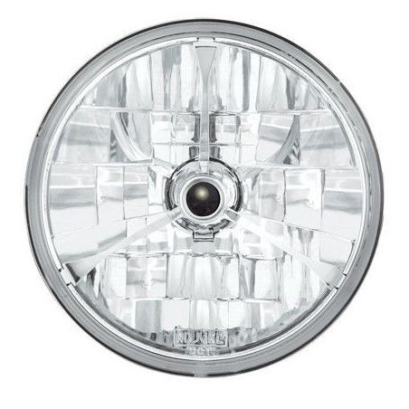 "Optique de phare Adjure 7"" Diamond Cut Tri-bar chromé"