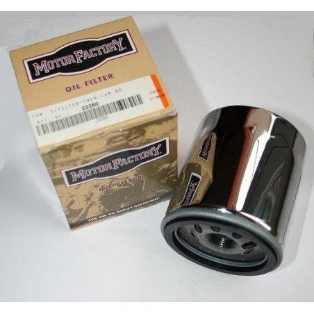 Filtre à huile Premium chrome Twin Cam 88 et 1584 motor factory pour Harley Davidson