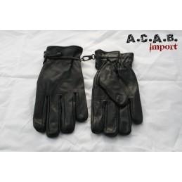 Gants cuir doublé Longhorn Arizona noir moto trike