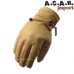 Gants cuir doublé Longhorn Arizona yellow