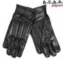 Gants de combat cuir noir - 1