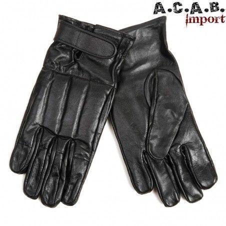 Gants de combat cuir noir