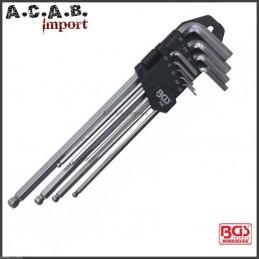 Jeu clés Allen BGS 6 bords angle en pouces du 1/16'' au 3/8''