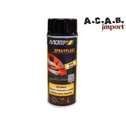 Bombe de peinture élastomère pelable Spraylast noir BRILLANT Motip 400ml