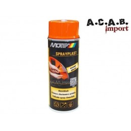 Bombe de peinture élastomère pelable Spraylast orange Motip 400ml