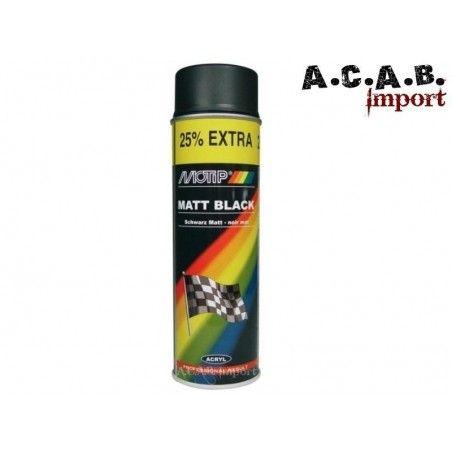 Bombe de peinture noir mat pour cadre 500Ml Motip