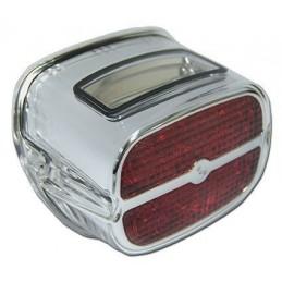 Feu à LED lentille rouge tour Chrome
