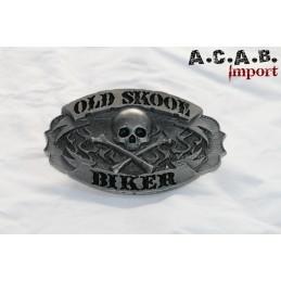 Boucle de ceinture old school biker