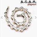 Bracelet biker chaine de velo acier titane chrome et doré A.C.A.B. Import - 3