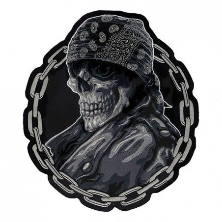 Patch thermocollant brodé Biker From Hell Lethal Threat