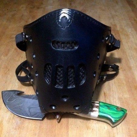 "Masque moto cuir ""killer bugs"" (Hannibal) Noir"