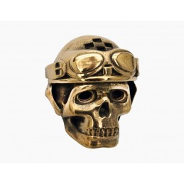 vis decorative racing skull bronze joaillerie
