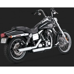 "Vance & Hines Twin Slash 3"" Slip on chrome Dyna Harley Davidson 1991 2017"