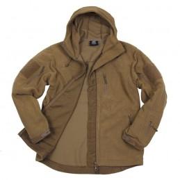 Veste polaire Sand Hexagon 100% polyester avec capuche ajustable
