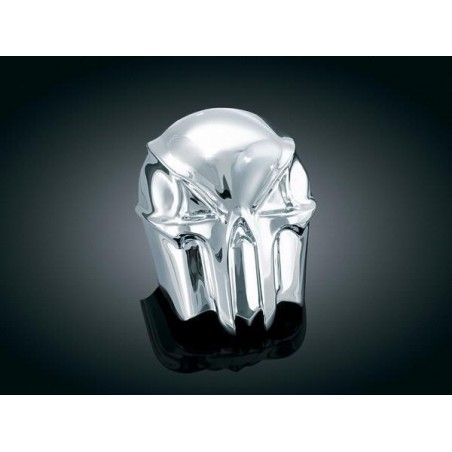 Cache Klaxon Skull Kuryakyn pour Harley Davidson