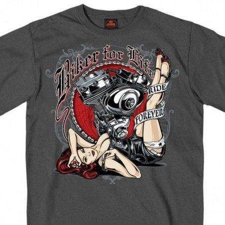 Tee Shirt Hot Leathers Motor Pin Up