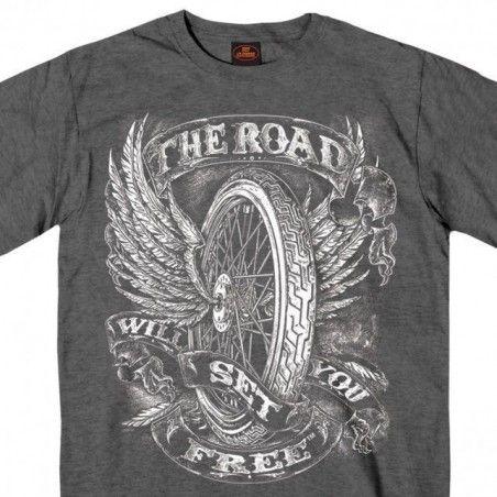 Tee Shirt Hot Leathers Flying Wheel