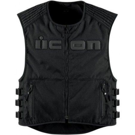 Gilet noir moto ICON Brigand