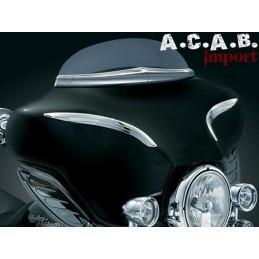 Paire enjoliveur Kuryakyn chromé pour « nez de cochon » Tourer Harley Davidson