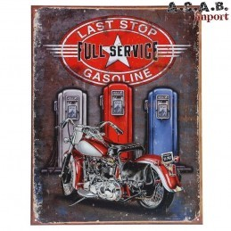 Plaque decorative metal Last Stop Gasoline