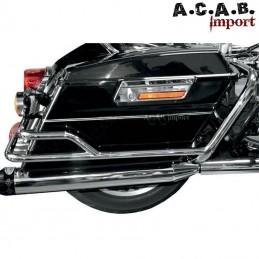 Rails de protection de sacoches rigide chromé tourer Harley