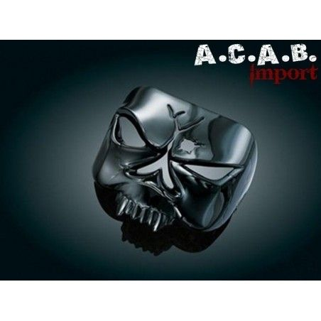 Visière de feu arrière noire ABS chromée Kuryakyn Skull