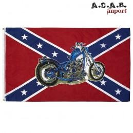 Drapeau rebel moto