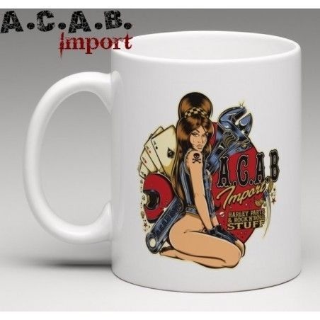 Mug A.C.A.B. Import Pin Up garage David Vicente
