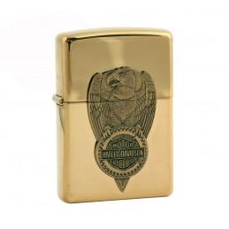 Briquet Zippo doré aigle Harley-Davidson®