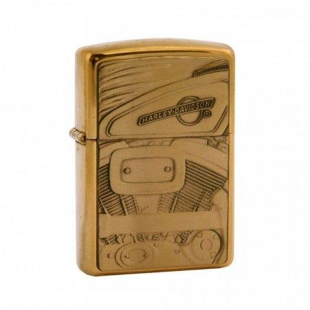 Briquet Zippo doré moteur Harley-Davidson®