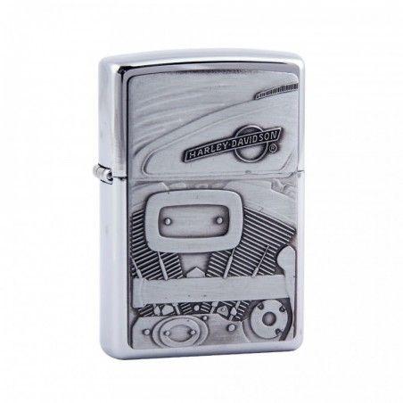 Briquet Zippo argent moteur Harley-Davidson® dans son coffret cadeau