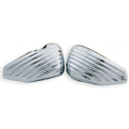 Caches lateraux Greasy coast chrome pour XL Sportster a partir de 2004