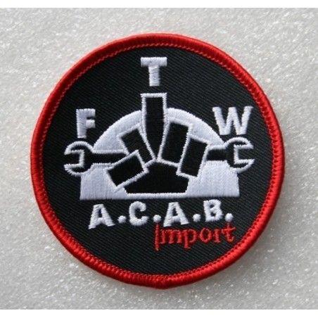 Patch à coudre brodé A.C.A.B. Import