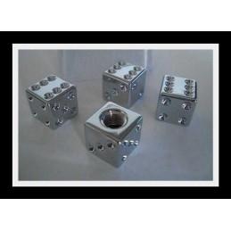 Bouchons de valve 4 pieces « dés » moto, voiture
