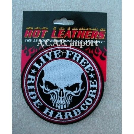 Patch thermocollant brodé « skull ride hardcore »
