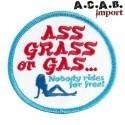 Patch à coudre Biltwell brodé Ass Grass or Gas
