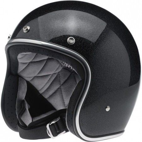 Casque Biltwell Bonanza Midnight Black Miniflake