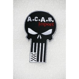 Patch Brodé à coudre A.C.A.B. Import Breizh Punisher