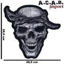 Patch thermocollant brodé Bandana Skull Lethal Threat biker