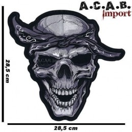 Patch thermocollant brodé Bandana Skull Lethal Threat biker