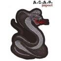 Patch thermocollant brodé Cobra biker rockabilly custom