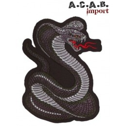 Patch thermocollant brodé Cobra biker rockabilly custom