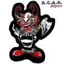 Patch brodé «clown psychopathe » biker 17 cm X 12 cm
